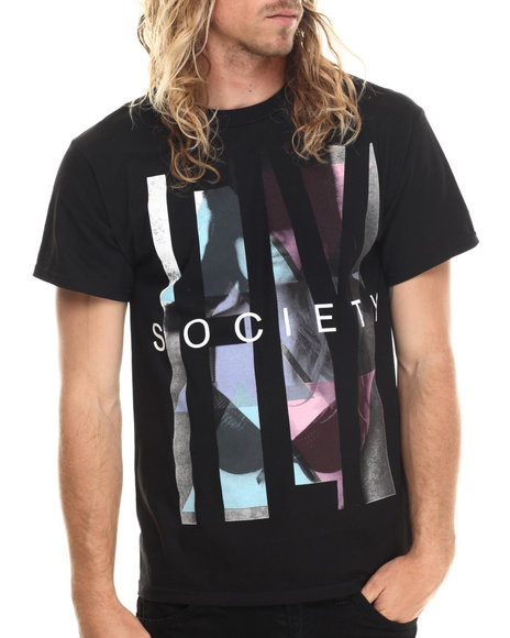 Flysociety - Men Black Thuggin T-Shirt