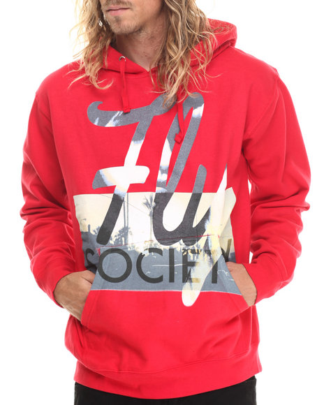Flysociety - Men Red The Red Eye Hoodie