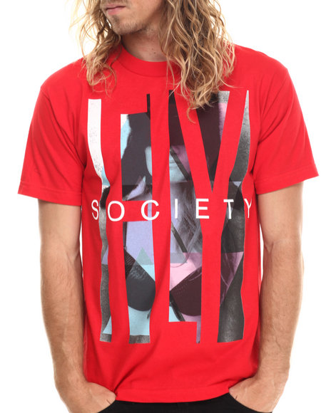 Ur-ID 212994 Flysociety - Men Red Thuggin T-Shirt