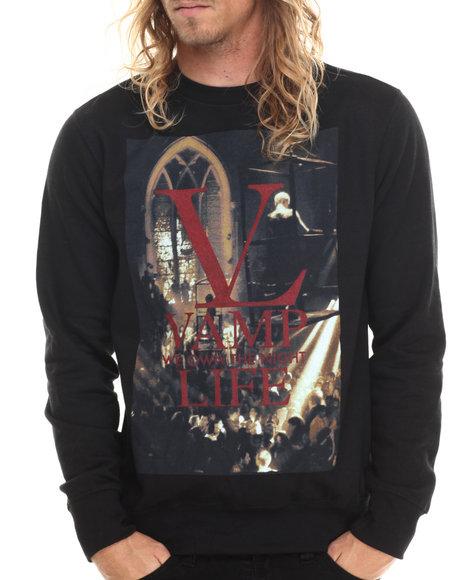 Ur-ID 212995 Vampire Life - Men Black Vamp Life Sweatshirt