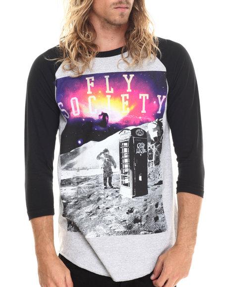 Flysociety - Men Grey Misson Control Raglan