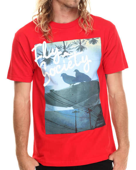 Ur-ID 213005 Flysociety - Men Red The Post Up T-Shirt