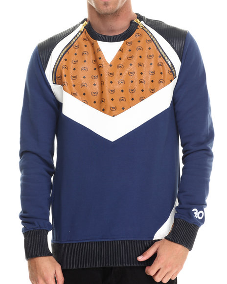 Ur-ID 213006 Frost Originals - Men Navy Chevron L/S Sweatshirt