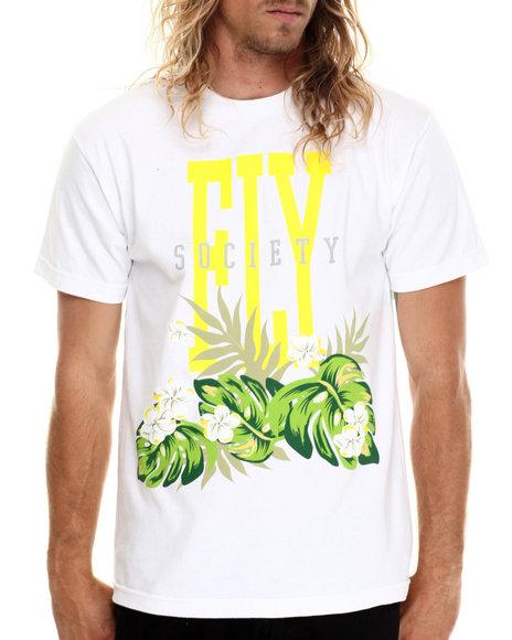 Ur-ID 213008 Flysociety - Men White Aloha T-Shirt