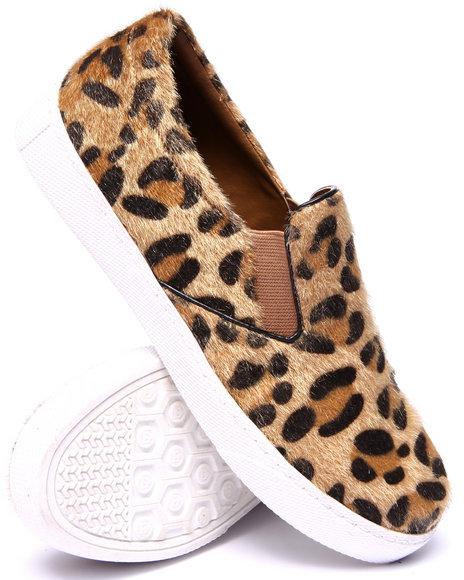 Fashion Lab - Women Animal Print Flips Leopard Slip On Sneaker