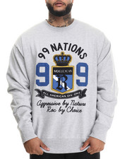 Pullover Sweatshirts - 99 Nations Crew Fleece Sweatshirt (B&T)