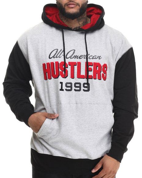 Rocawear - Men Grey American Hustlers Pullover Hoodie (B&T)