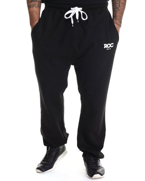 Rocawear - Men Black Bold Roc Jogger Fleece Pants (B&T)