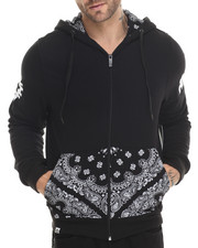 Hoodies - Deerfield Bandana Print Full Zip Hoody
