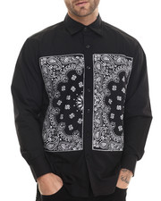 Black Ornament Print Shirt by Akademiks