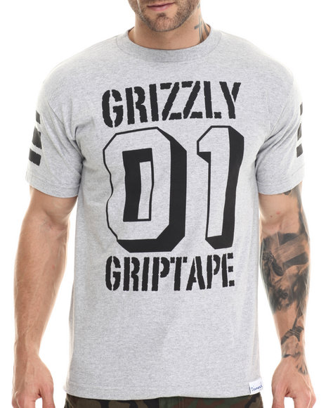 Grizzly Griptape - Men Grey Grizzly Bowl Tee