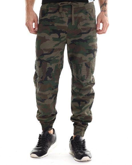 Buyers Picks - Men Camo Wax Coated Joggers