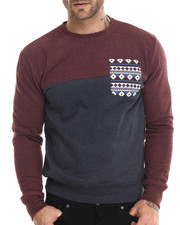Sweatshirts & Sweaters - Aztec Pocket Trim Sweatshirt