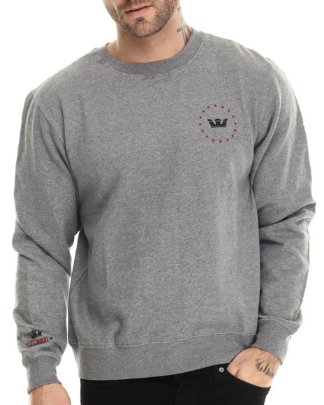 Ur-ID 213059 Supra - Men Grey,Red Allegiance Crewneck Sweatshirt