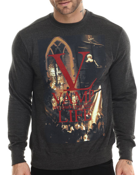 Vampire Life - Men Grey Vamp Life Sweatshirt