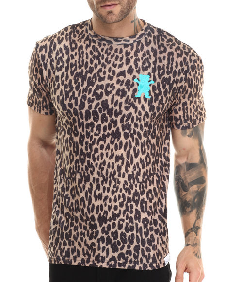 Grizzly Griptape - Men Animal Print Eli Reed Cheetah Griptape Tee