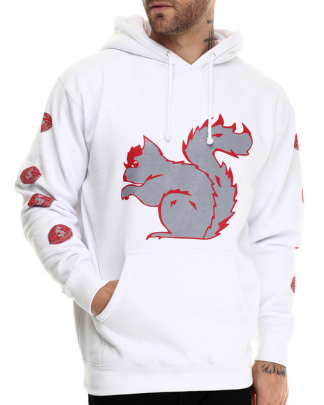 Graf-X Gallery - Men Red Squirrel Pullover Hoodie