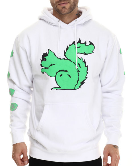 Graf-X Gallery - Men Neon Green Squirrel Pullover Hoodie