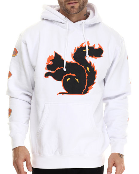Graf-X Gallery - Men Orange Squirrel Pullover Hoodie