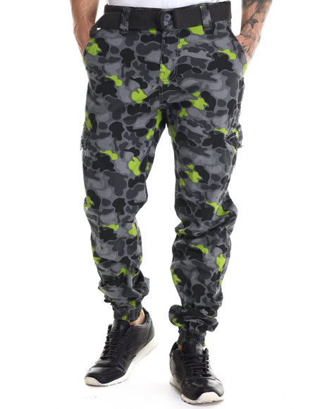 Buyers Picks - Men Grey Flash - Spot Camo Cargo Joggers