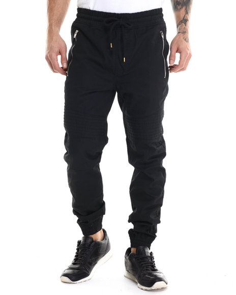 Buyers Picks - Men Black Wax Coated Joggers
