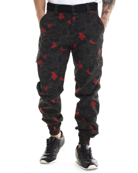 Buyers Picks - Men Camo Flash - Spot Camo Cargo Joggers