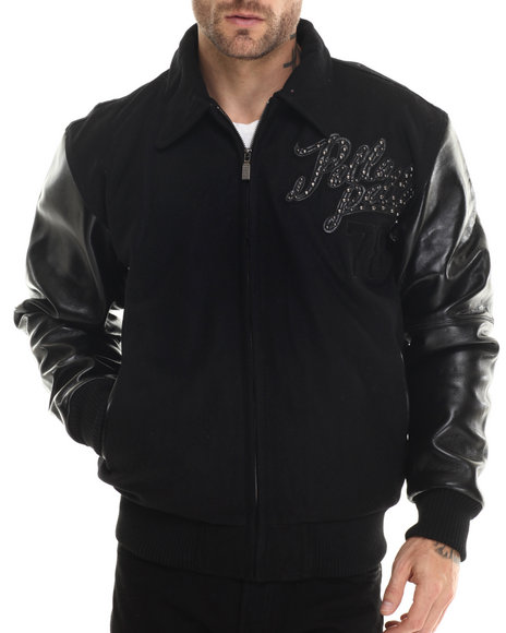 Pelle Pelle - Men Black Navy Wool Legendary Pelle Pelle Jacket - $299.99
