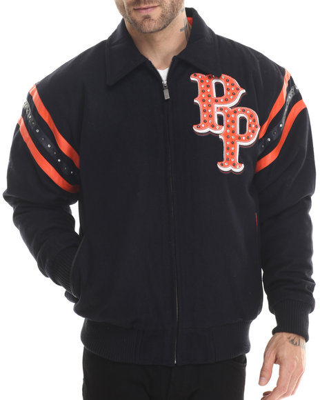 Pelle Pelle - Men Navy Detroit Blue Wool Pelle Pelle Jacket - $153.99