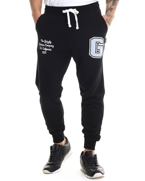 Ur-ID 213096 Grizzly Griptape - Men Black Varsity Sweatpants
