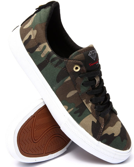 Diamond Supply Co - Men Camo Crown Sneakers