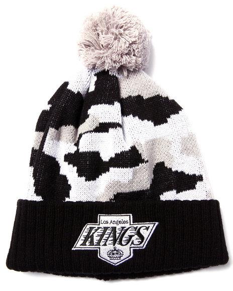 American Needle Men Los Angeles Kings Troop City Camo Cuff Knit Hat Black - $20.00