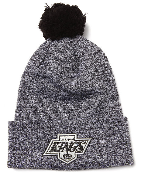 American Needle Men Los Angeles Kings Insulation Heather Knit Hat Black