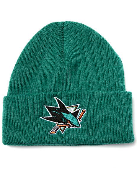 American Needle Men San Jose Sharks Team Logo Knit Hat Teal - $8.99