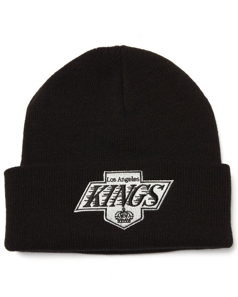 American Needle Men Los Angeles Kings Team Logo Knit Hat Black