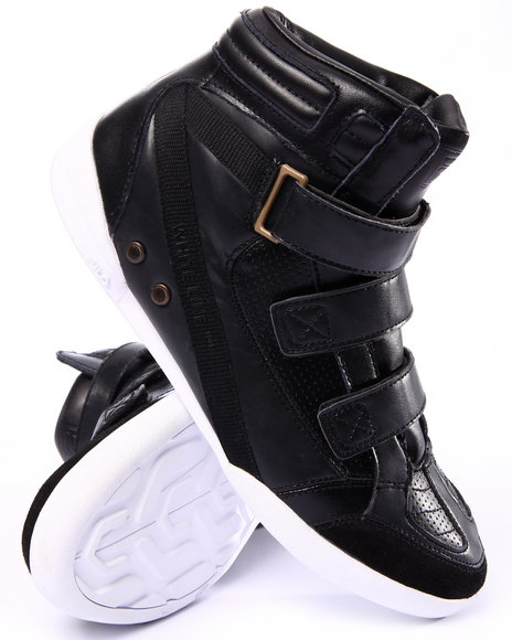 Fila - Men Black Hi Class Mid Triple Strap Sneaker