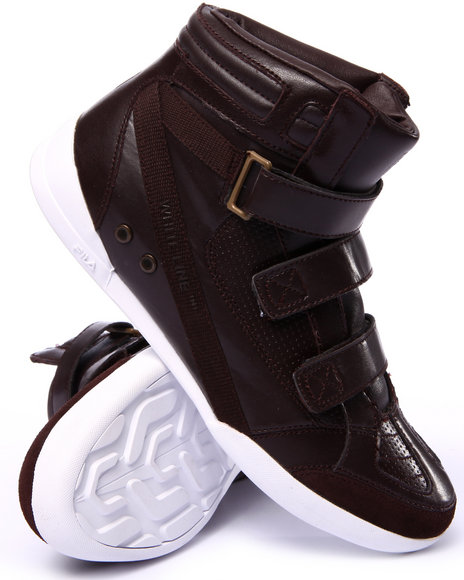 Ur-ID 213067 Fila - Men Brown Hi Class Mid Triple Strap Sneaker