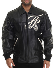 Pelle Pelle by Marc Buchanan - Badged Royal Leather Jacket