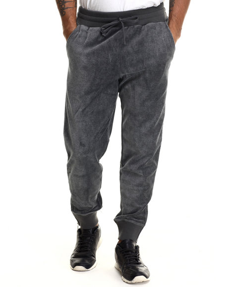 Fila - Men Grey Slim Fit Velour Heritage Jogger Pant