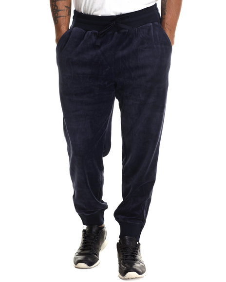 Fila - Men Navy Slim Fit Velour Heritage Jogger Pant
