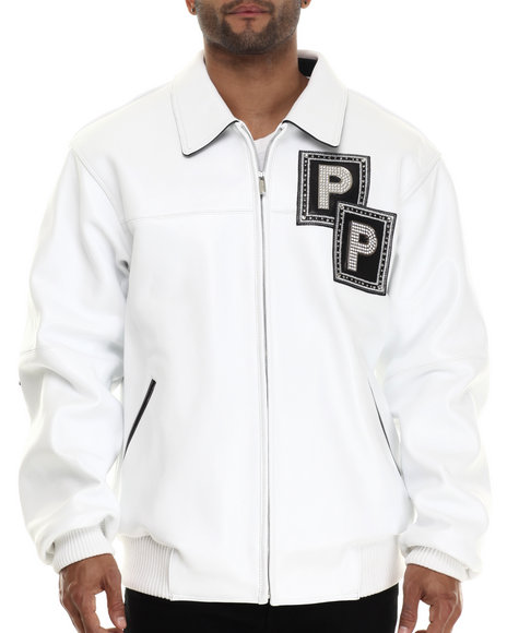Pelle Pelle By Marc Buchanan - Men White Jeweled Limited Edition Jacket