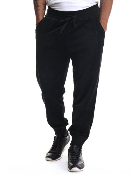 Fila - Men Black Slim Fit Velour Heritage Jogger Pant