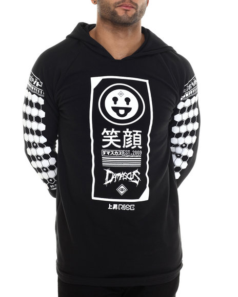 Damascus Black Hoodies