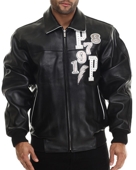 Pelle Pelle - Men White Come Out Fighting Full Leather Jacket