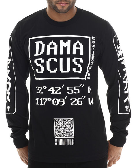 Damascus - Men Black Latitude Signature L / S Tee