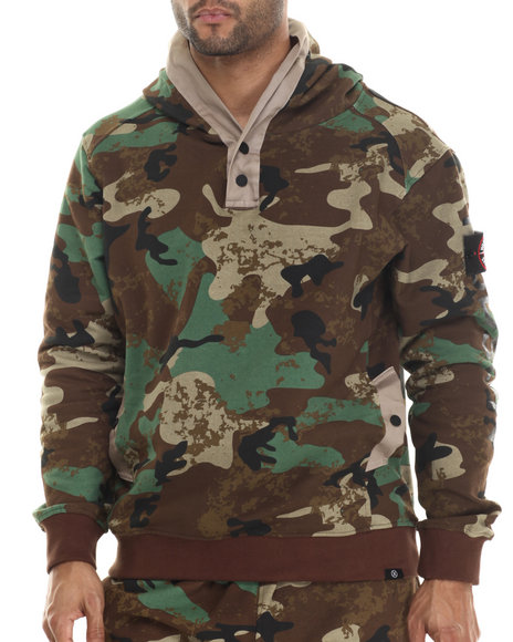 Hudson Nyc - Men Camo Lookout Pullover Hoodie