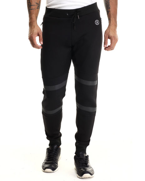 Ur-ID 213128 Hudson NYC - Men Black Health Goth Tech Jogger Pants