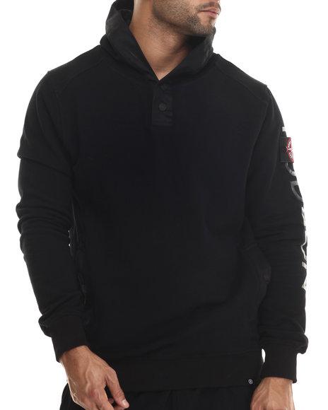 Hudson Nyc - Men Black Lookout Pullover Hoodie
