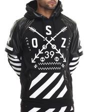 Buyers Picks - O S Z Layered Raglan - Sleeve Pullover Hoodie