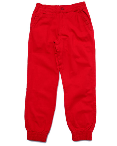 Parish - Boys Red Twill Joggers (8-20)