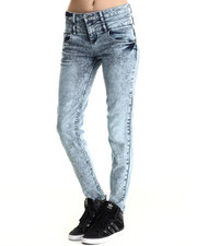 Basic Essentials - Double Kiss Stacked Highwaisted Skinny Jean